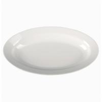 Белое глубокое блюдо-селёдочница Lubiana Kaszub 24*14 см (2112-L)