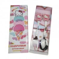"""Набор детский ложка и вилка  """"Hello Kitty"""" 2 предмета (2117)"""