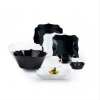 """Столовый сервиз чёрно/белый фигурный Luminarc Authentic """"Black & White"""" 38 предметов (P4677)"""