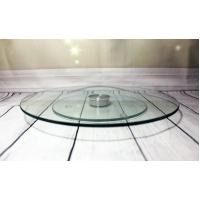 Блюдо-тортовница вращающаяся стеклянная на крутящейся ножке Helios 250 мм 1 шт (6840)