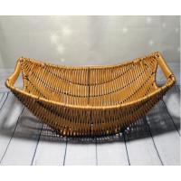 Плетённая корзинка Helios для фруктов на металлическом каркасе 380x230x120мм (7333)
