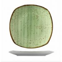 Квадратная фарфоровая тарелка Kutahya Porselen Corendon зеленая 250 мм (GR3225)