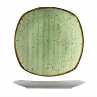 Квадратная зелёная тарелка Kutahya Porselen Corendon 270 мм(GR3227)