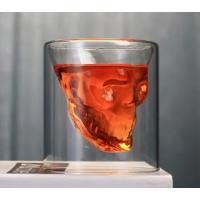 """Набор стаканов с двойными стенками """"Череп"""" Helios для алкогольных напитков 80 мл 2 шт (6735)"""