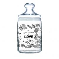 Банка Luminar  для сыпучих Love Pasta с прозрачной крышкой 1 л (P6016)