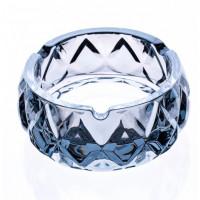 Блюдо круглое стеклянное плоское для фруктов Helios  33 cм (5104)