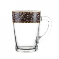 Кружка конус декор кофе MIX 300мл ОСЗ (8148/1334)