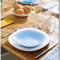 Тарелка глубокая для первых блюд Carine Light Blue бирюзовая 210 мм Luminarc P4250