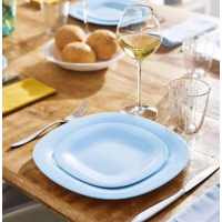 Тарелка десертная бирюзовая  Carine Light Blue квадратная  190 мм Luminarc (P4245)
