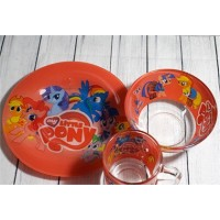 Набор детский для обеда, 3 предмета (A9551/2) Пони