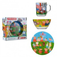 Набор детской посуды Isfahan Свинка Пеппа 3 предмета (A9551/6)