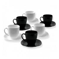 Чайный сервиз Luminarc CARINE White&Black из 12 предметов (D2371)