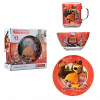 Набор детской посуды Isfahan Маша и Медведь 3 предмета (A9551/16)