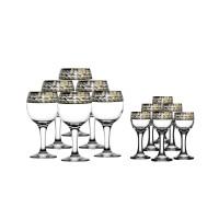 Набор бокалов и рюмок ОСЗ Версаче 12 предметов  (GE08-411/134)