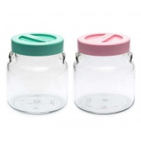 Набор банок с ложкой  Ever с ложкойglass DUET 550 мл 2 шт (2550Н)
