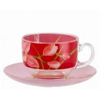 Сервиз чайный Luminarc Evolution Red orchis 12 предметов 220 мл (P6878)