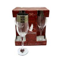 Набор бокалов для шампанского ОСЗ Версаче 200 мл 6 шт (GE08-160)