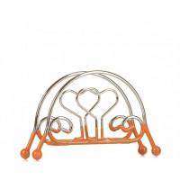 Салфетница Helios в форме сердца металлическая с резиновой основой (7424)