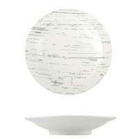 Тарелка Helios Светлый камень круглая глубокая  25.5 см (G1605)