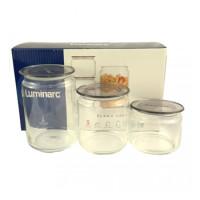 Набор банок Luminarc Plano для сыпучих продуктов  3 шт (N3454)