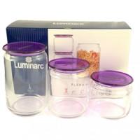 Набор банок Luminarc Pot Jar  для сыпучих 3 шт (N3453)