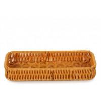 Плетённая корзинка Helios для столовых приборов коричневая (7302)