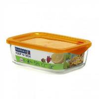 Пищевой контейнер  Luminarc Keep'n'box прямоугольный с крышкой оранжевый 380 мл (SD447)