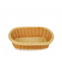 Плетённая корзинка Helios для хлеба овальная двухцветная (7308)