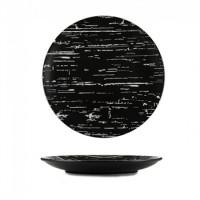 """Блюдо Helios """"Чёрный камень"""" круглое фарфоровое 310 мм (G1704)"""