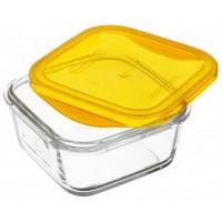 Пищевой контейнер  Luminarc Keep'n'box квадратный с крышкой оранжевый 380 мл (SD451)