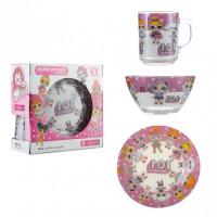 Набор детской посуды Isfahan Лол белый 3 предмета (A9551/5)
