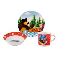 """Набор детской посуды Helios """"Маша и медведь"""" 3 предмета (4305)"""