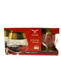 Набор бокалов ОСЗ Ампир для бренди  с позолотой 410 мл  6 шт (EAV79-1812)