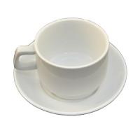 Фарфоровая чайная пара Helios Чашка 250 мл + блюдце (HR1300)