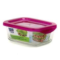 Пищевой контейнер  Luminarc Keep'n'box квадратный с крышкой малиновый 380 мл (SD452)