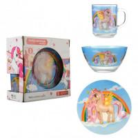 Набор детской посуды Isfahan Единорог 3 предмета (A9551/12)
