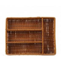 Плетённая корзинка Helios для столовых приборов 4 отделения (7309)