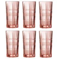 Набор розовых стаканов высоких Luminarc Dallas 380 мл (P9164)